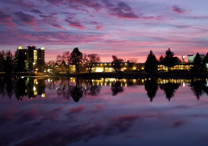 The,Snake,River,In,Idaho,Falls,At,Sunset